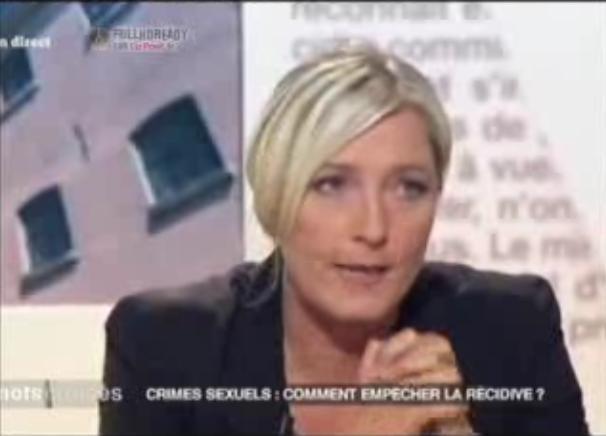 Marine Le Pen accuse Frédéric Mitterrand de pédophilie (VIDEO)