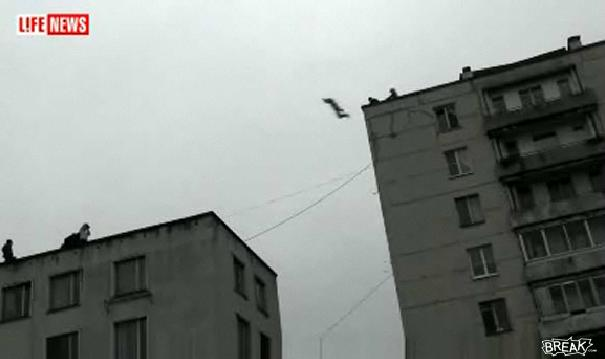 Incroyable saut d'un bâtiment à un autre (VIDEO)