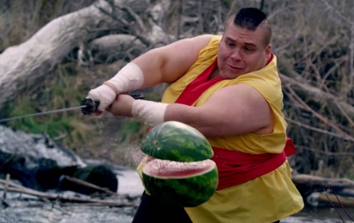 Fruit Ninja in Real Life (VIDEO)
