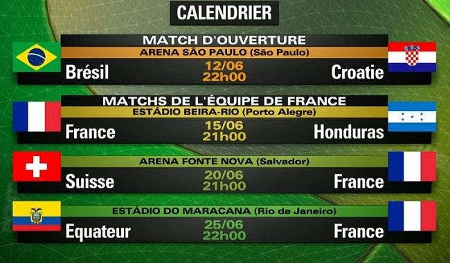 Tirage au sort de la coupe du monde 2014 video buzzraider - Calendrier de la coupe de france 2015 ...