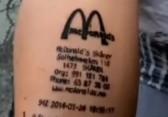 McDonald's Bill Tattoo 2