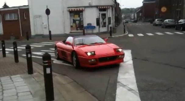 Un belge au volant d'une Ferrari, ça donne ça ! (vidéo)