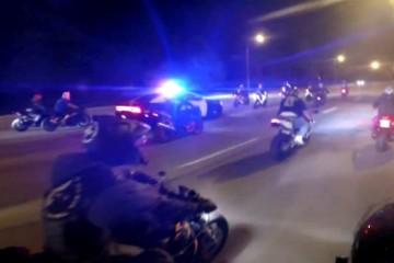 course poursuite police motards