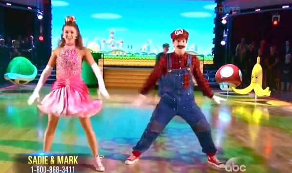 Mario et Peach dans Danse Avec les Stars (vidéo)