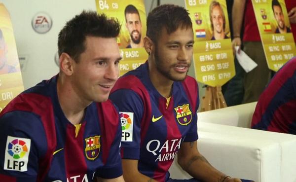 Les joueurs du Barça se défient à FIFA 15 (vidéo)