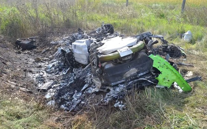 Lamborghini-Huracan crash
