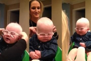 bebe voit sa mere premiere fois