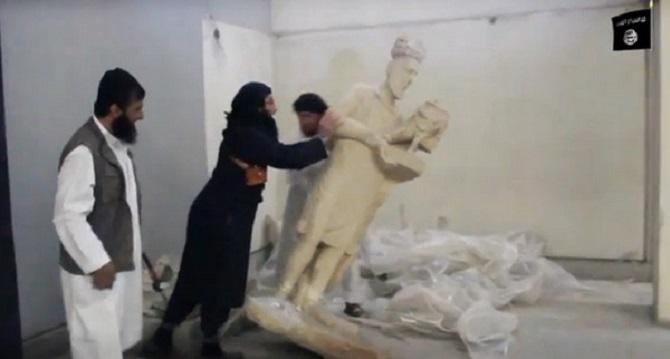 djihadistes détruisent musée irak