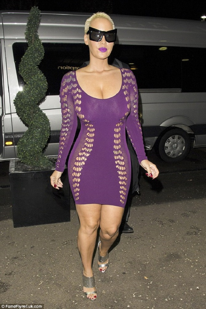 Amber Rose sheer dress (1)
