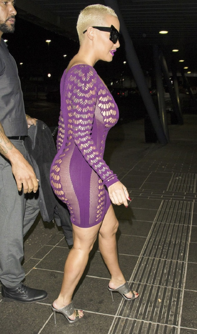 Amber Rose sheer dress (7)