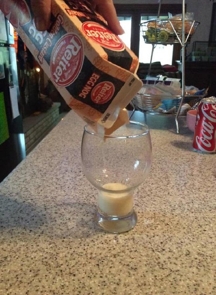 Brique de lait au frais