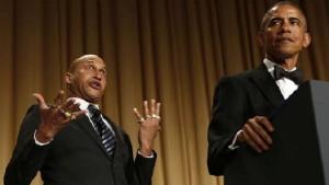 Barack Obama et son «traducteur de colère» font le show sur scène