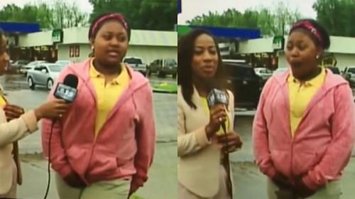 Elle se fait pipi dessus lors d'une interview en direct à la télé