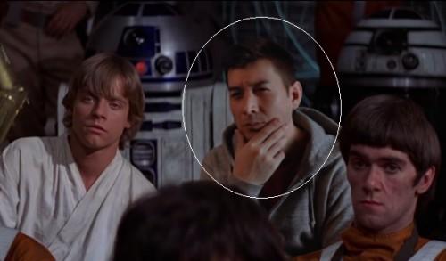 Un fan de Star Wars s'incruste dans le film