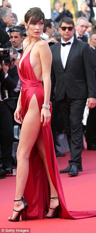 bella hadid red dress cannes 2016 (11)