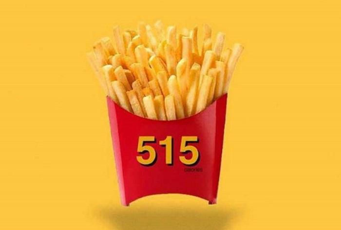Un cornet de frites = 515 calories
