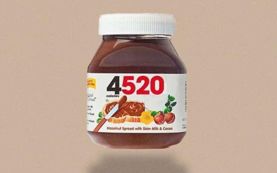 Un pot de pâte à tartiner = 4520 calories