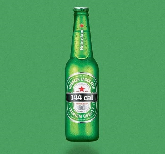 Une bouteille de bière blonde = 144 calories.