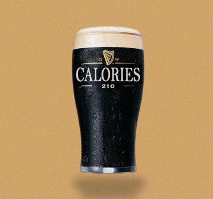 Une pinte de bière irlandaise = 210 calories