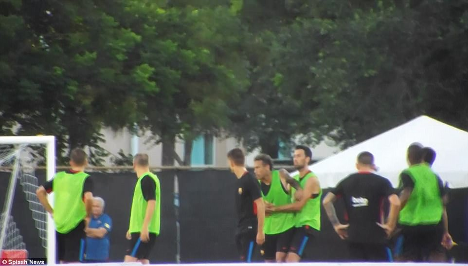 Grosse altercation entre Neymar et Semedo à lentraînement (video et photos)