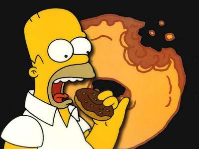Homer Simpson contre la malbouffe