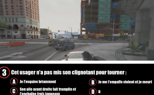 Passer son code de la route dans GTA 5