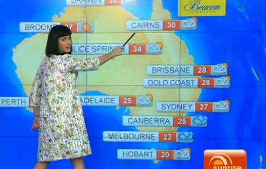 Katy Perry présente la météo à la télé australienne (VIDEO)