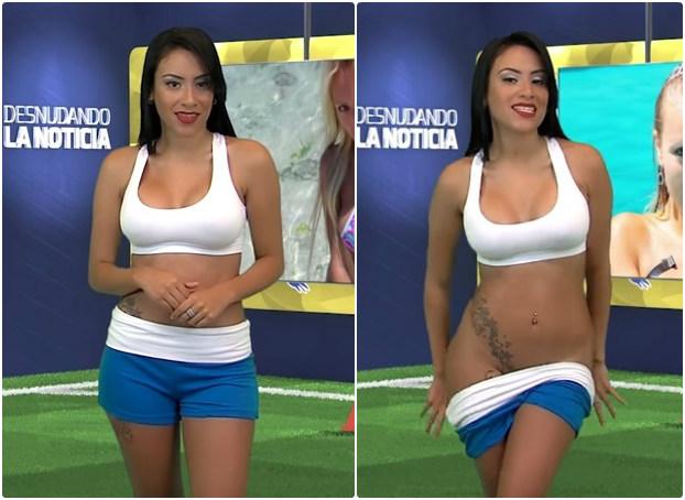 Une présentatrice se déshabille entièrement pour Cristiano Ronaldo